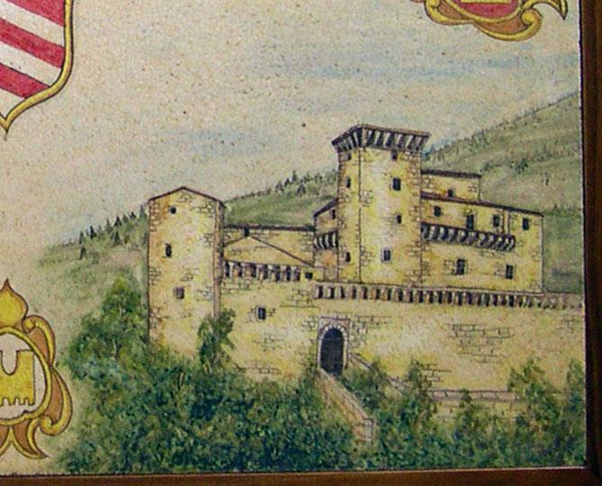 Pannello monolitico cm.70x90 più cornice in legno per Villa Privata